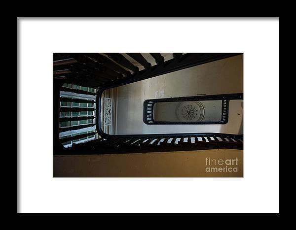 Aiken Rhett House Framed Print featuring the photograph Aiken Stairs by Dale Powell