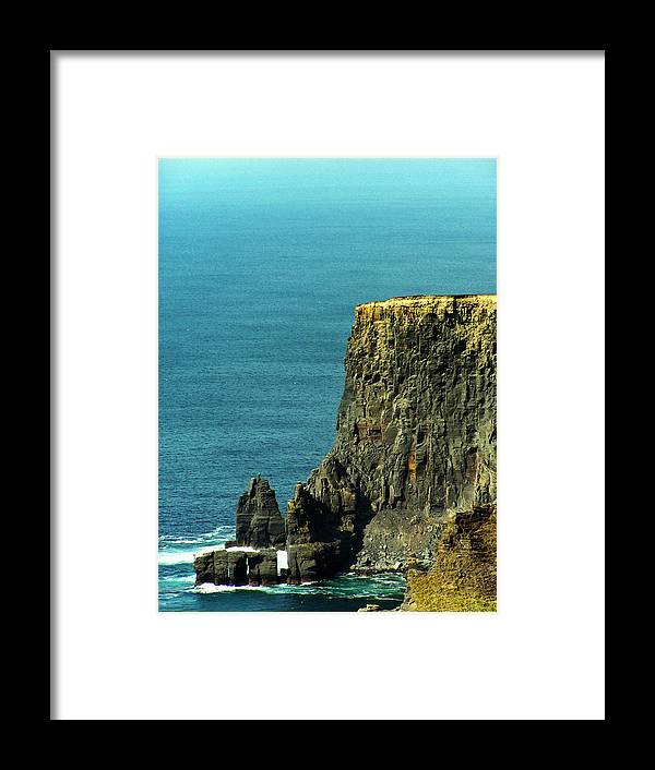 Irish Framed Print featuring the photograph Aill Na Searrach Cliffs Of Moher Ireland by Teresa Mucha