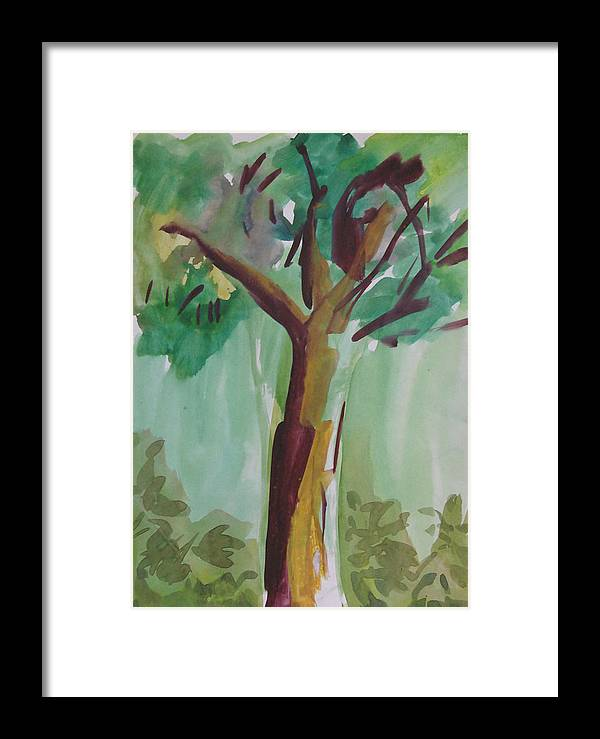Tree Framed Print featuring the painting Aimless by Panditjeeartgallery