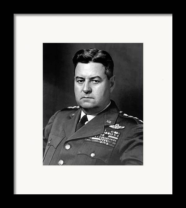 Curtis Lemay Framed Print featuring the painting Air Force General Curtis Lemay by War Is Hell Store