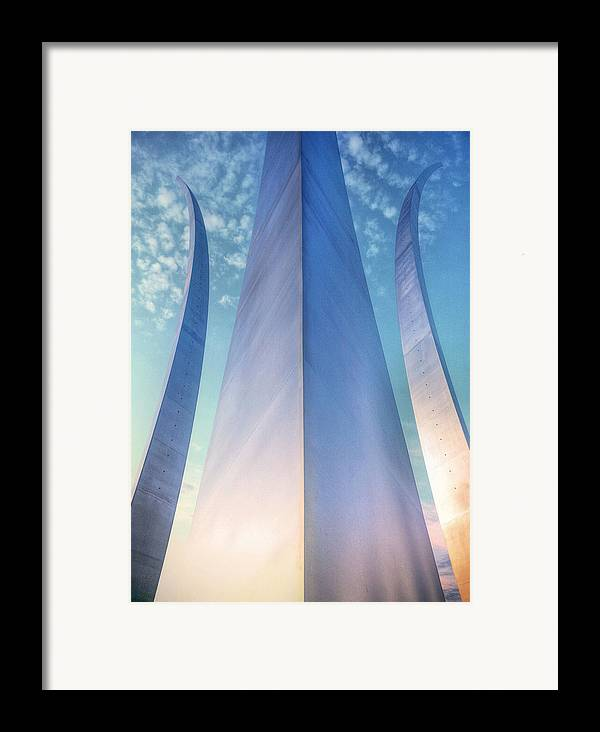 Usaf Framed Print featuring the photograph Air Force Memorial by JC Findley