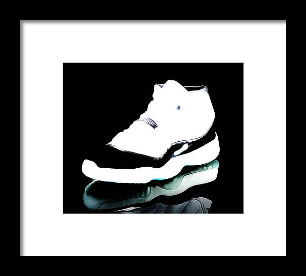 6a6b8cfd5ad Michael Jordan Framed Print featuring the mixed media Air Jordans S3 by Brian  Reaves
