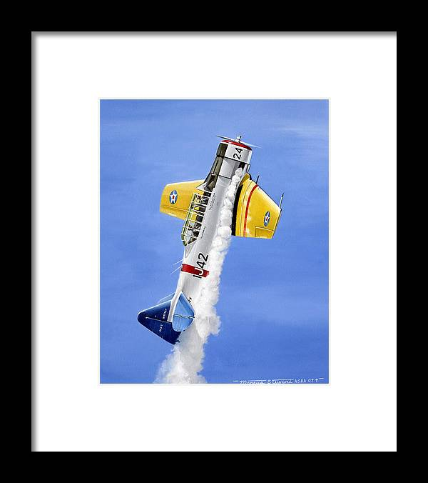 Military Framed Print featuring the painting Air Show by Marc Stewart
