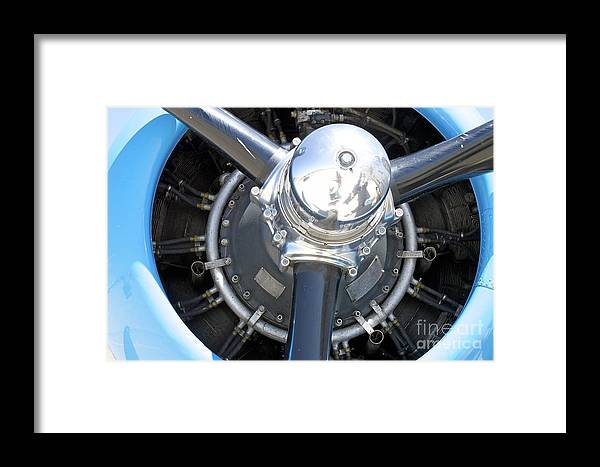Engine Framed Print featuring the photograph Aircraft Engine by Pamela Walrath