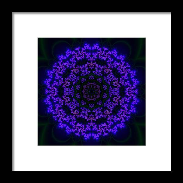 Akbal Framed Print featuring the digital art Akbal 10 by Robert Thalmeier