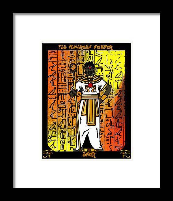 Aker Framed Print featuring the digital art Aker by Derrick Colter