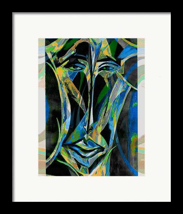 Mask Framed Print featuring the mixed media Akhnaton by Noredin Morgan