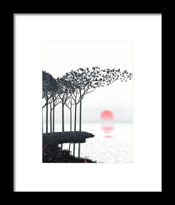Landscape Framed Print featuring the digital art Aki by Cynthia Decker