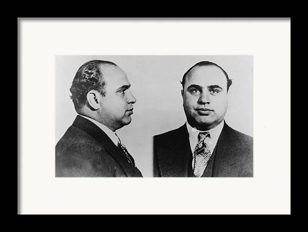 History Framed Print featuring the photograph Al Capone 1899-1847, Prohibition Era by Everett