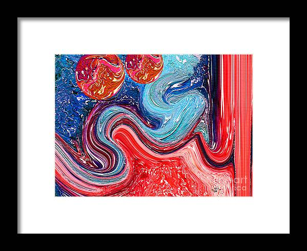 Al Ghani Painting Framed Print featuring the painting Al Ghani Allah Name by Hamid Iqbal Khan