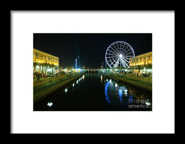 Architect Framed Print featuring the photograph Al Qasba Canal by Hussein Kefel