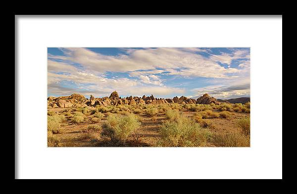 Alabama Hills Framed Print featuring the photograph Alabama Hills Pano by Brian Knott Photography