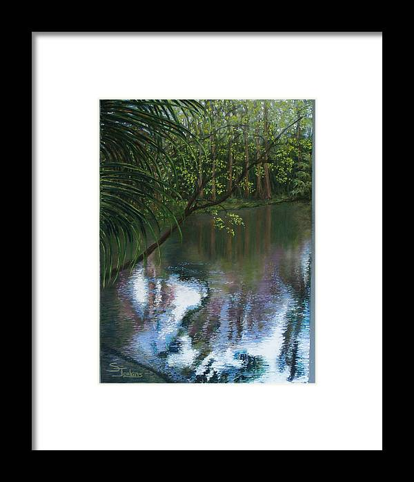 Landscape Framed Print featuring the painting Alafia River Reflection by Susan Jenkins