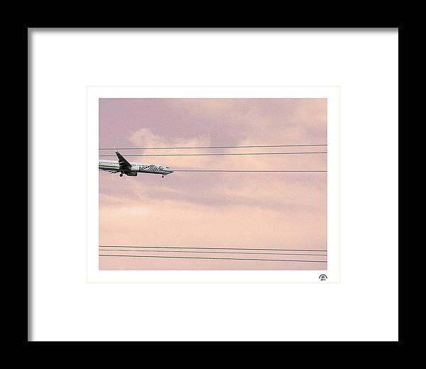 Alaska Airlines Framed Print featuring the photograph Alaska Landing by Stan Magnan