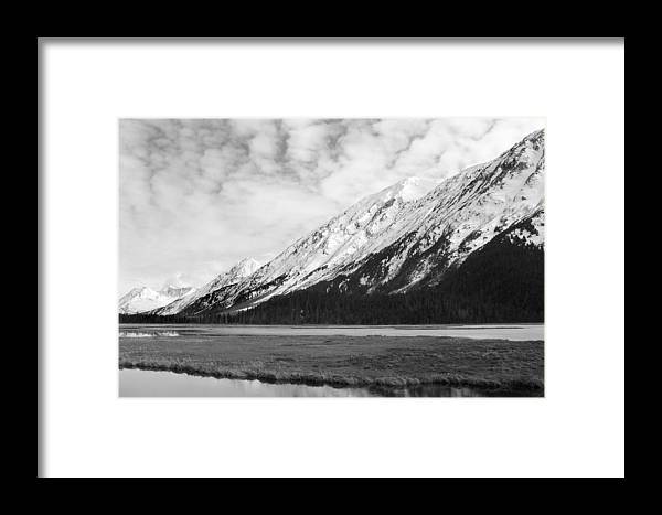 Mountains Framed Print featuring the photograph Alaska Mountains by Ty Nichols