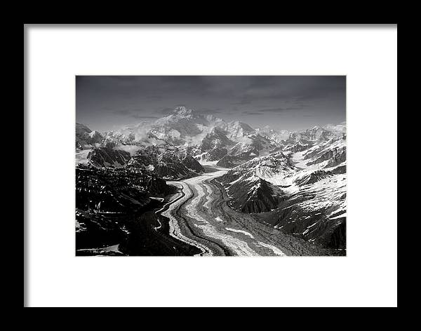 Glacier Framed Print featuring the photograph Alaska Range And Denali by Alasdair Turner