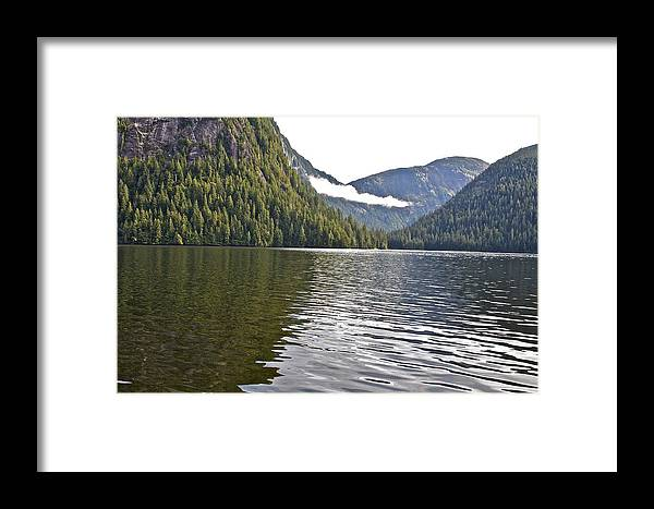 Mountains Framed Print featuring the photograph Alaskan Lake by Robert Joseph