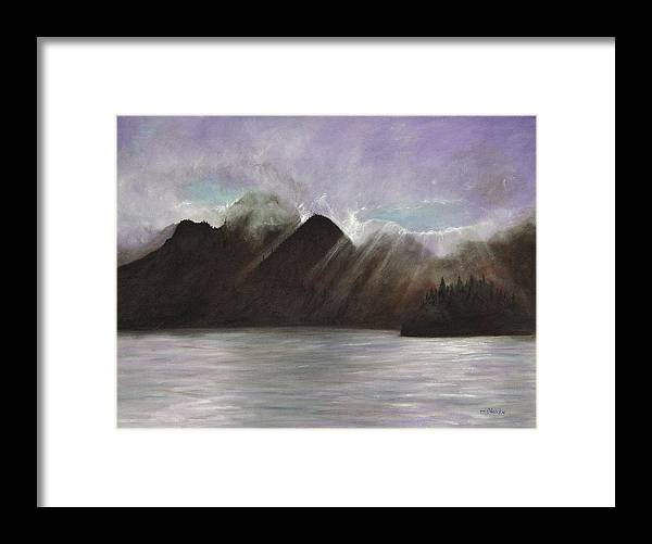Waterscape Framed Print featuring the painting Alaskan Morning by Merle Blair