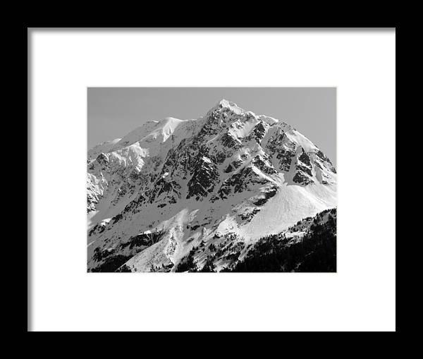Alaska Framed Print featuring the photograph Alaskan Peak by Ty Nichols