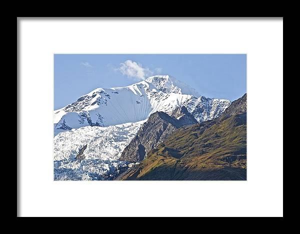 Alaska Framed Print featuring the photograph Alaskan Snowtop by Robert Joseph