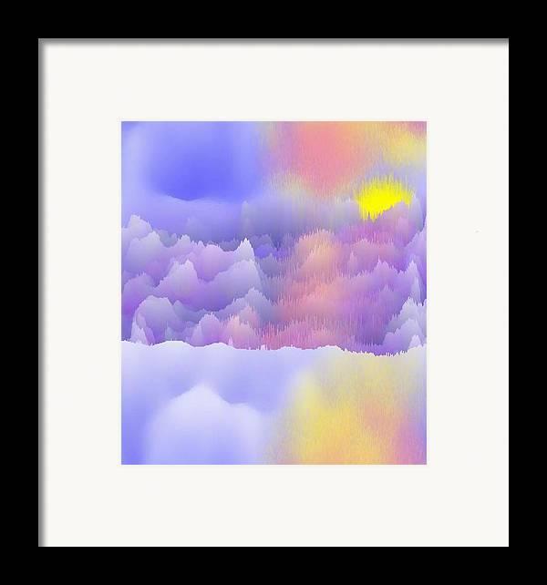 Sky.polar Lights.entire Day Is The Sun.river.ice.snow. The Ice-hummocks.  Framed Print featuring the digital art Alaska.yukon.cold. by Dr Loifer Vladimir