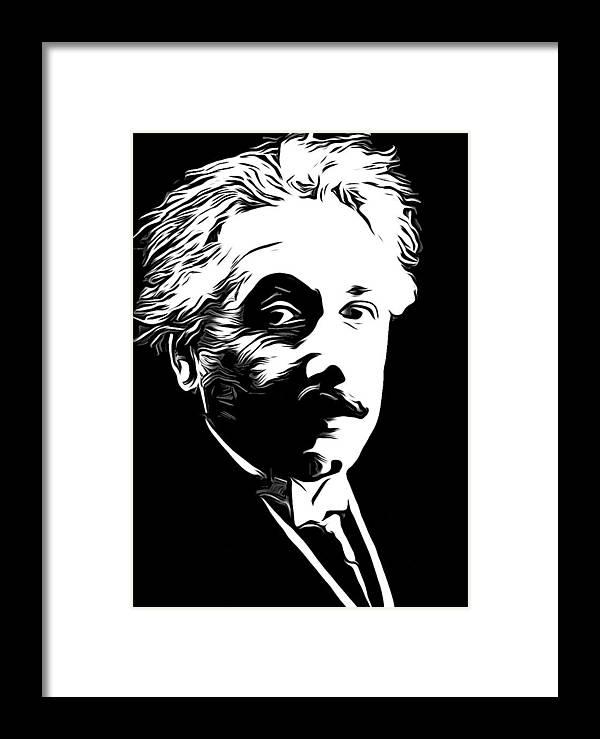 Einstein Framed Print featuring the photograph Albert Einstein by Munir Alawi