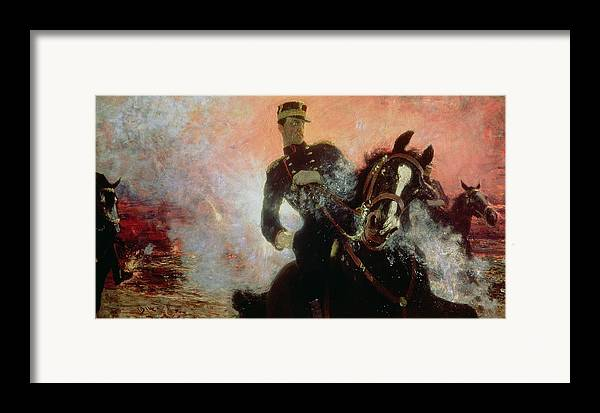 Albert I (1875-1934) King Of The Belgians In The First World War Framed Print featuring the painting Albert I King Of The Belgians In The First World War by Ilya Efimovich Repin