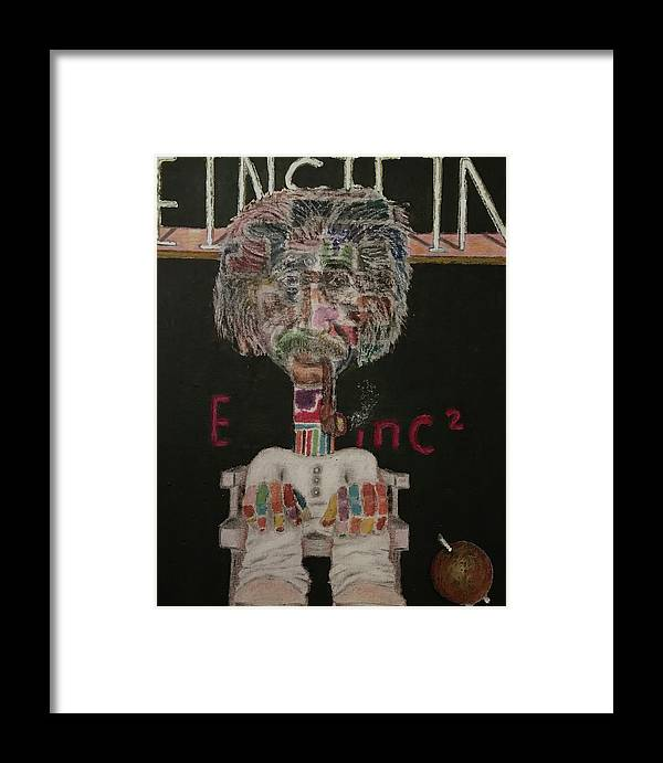 Framed Print featuring the mixed media Albert by Ismael Alicea-Santiago