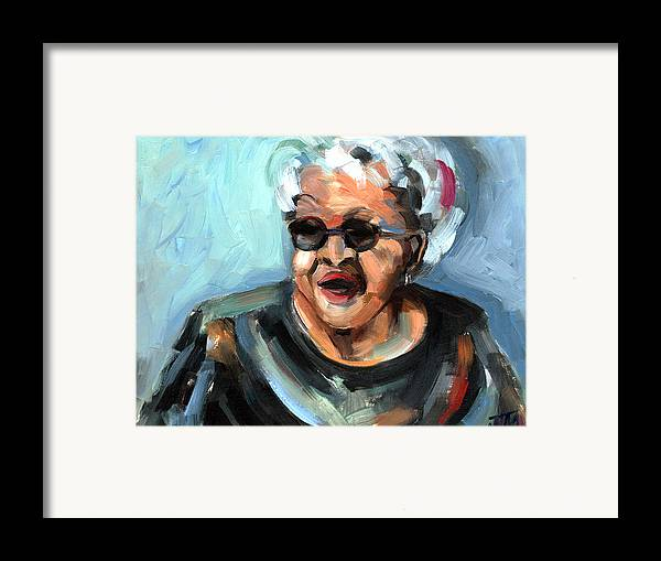 Portrait Framed Print featuring the painting Alberta Adams by Jackie Merritt