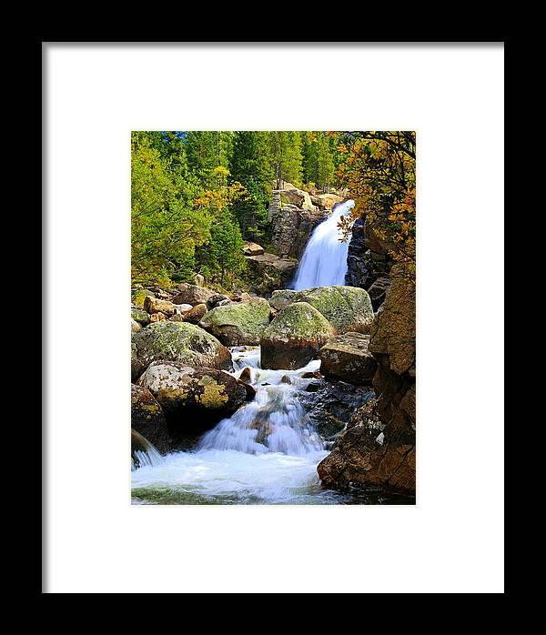 Colorado Framed Print featuring the photograph Alberta Falls by Bill Keiran