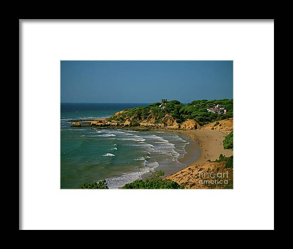 Albufeira Framed Print featuring the photograph Albufeira, Portugal by Lance Sheridan-Peel