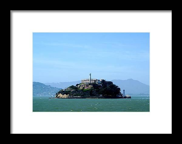 Historic Landmark Framed Print featuring the photograph Alcatraz Island by Sonja Anderson