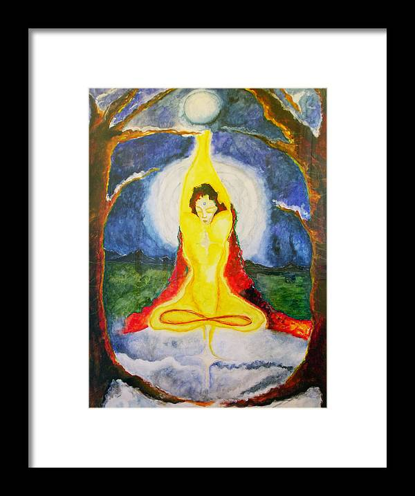 Asana Framed Print featuring the painting Alder Meditation by Erika Brown