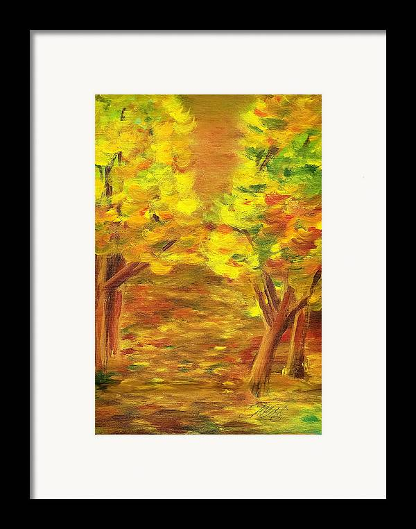 Landscape Framed Print featuring the painting Aldergrove Lake Park by Vivian Mosley