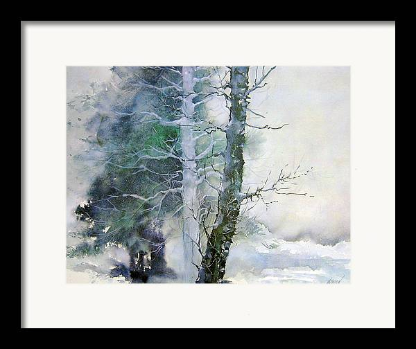 Trees Framed Print featuring the painting Alders And Cedar by Dale Witherow