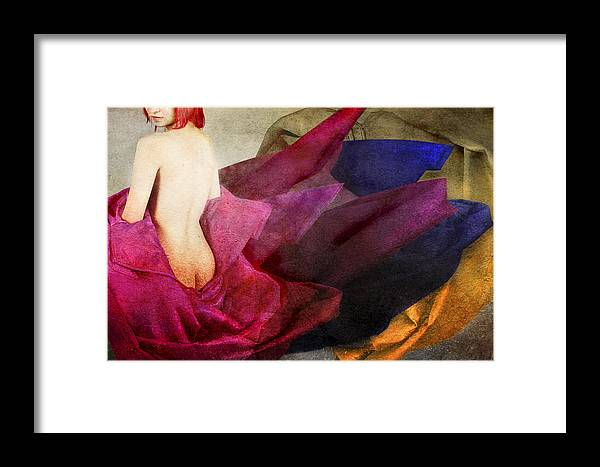Framed Print featuring the photograph Alegory In Red by Zygmunt Kozimor