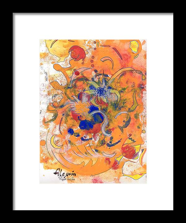Alegria Framed Print featuring the mixed media Alegria by Michael Puya
