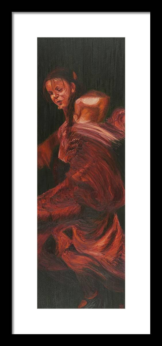 Flamenco Framed Print featuring the painting Alegrias by LB Zaftig