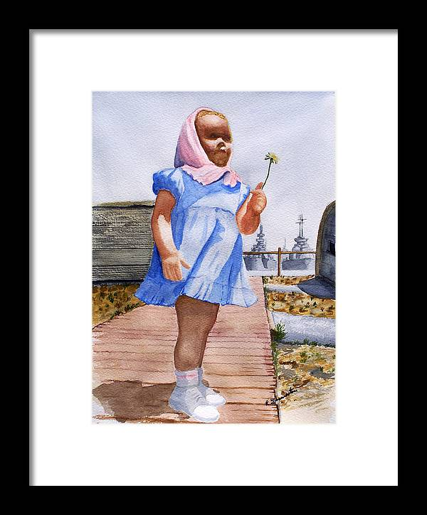 Family Framed Print featuring the painting Alene June 14 1949 by Robert Thomaston