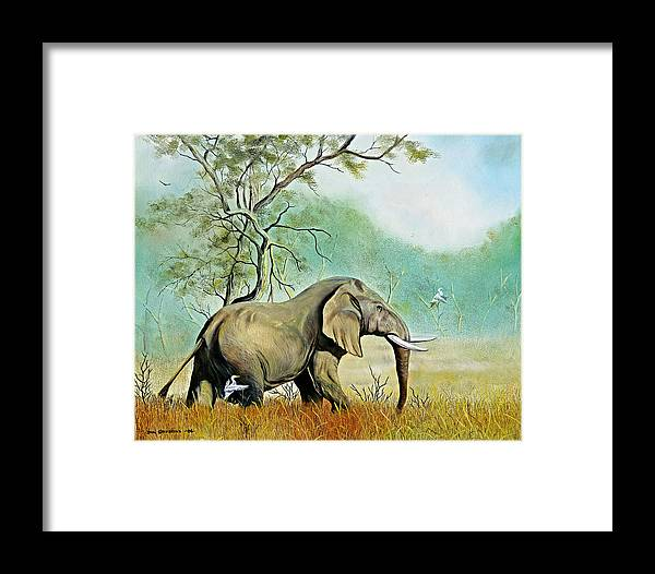 Wildlife Framed Print featuring the painting Alert by Don Griffiths
