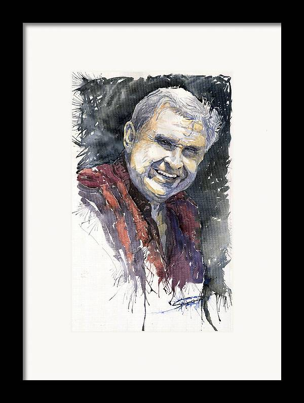 Watercolour Framed Print featuring the painting Alex by Yuriy Shevchuk
