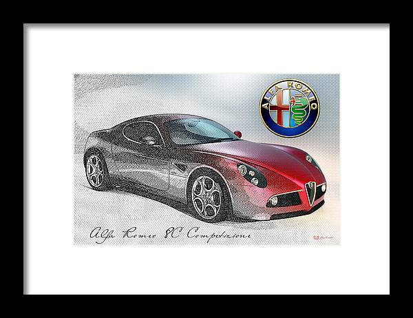 Wheels Of Fortune By Serge Averbukh Framed Print featuring the photograph Alfa Romeo 8C Competizione by Serge Averbukh