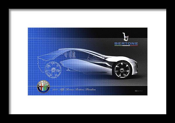 Wheels Of Fortune By Serge Averbukh Framed Print featuring the photograph Alfa Romeo Bertone Pandion Concept by Serge Averbukh