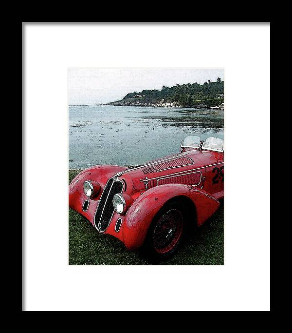 Automobile Framed Print featuring the photograph Alfa29 by Alan Olmstead