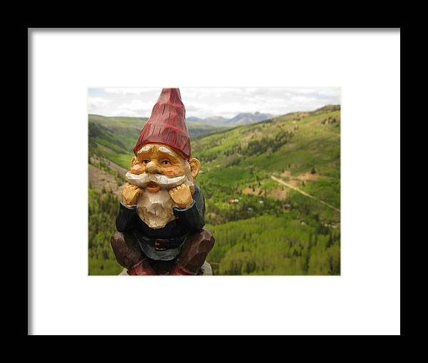 Gnome Framed Print featuring the photograph Alfred by Amara Roberts