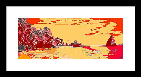 Mediterranean Framed Print featuring the photograph Algarve Sunrise by Ian MacDonald