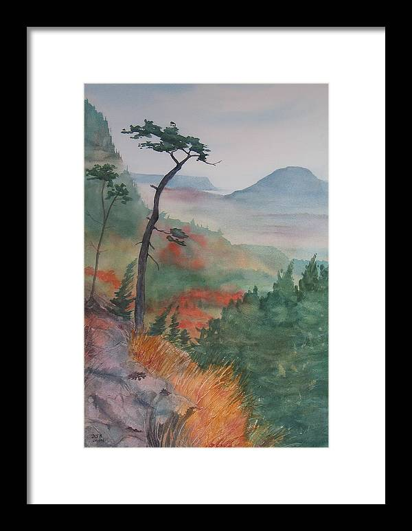 Early Morning Framed Print featuring the painting Algoma Morning by Debbie Homewood