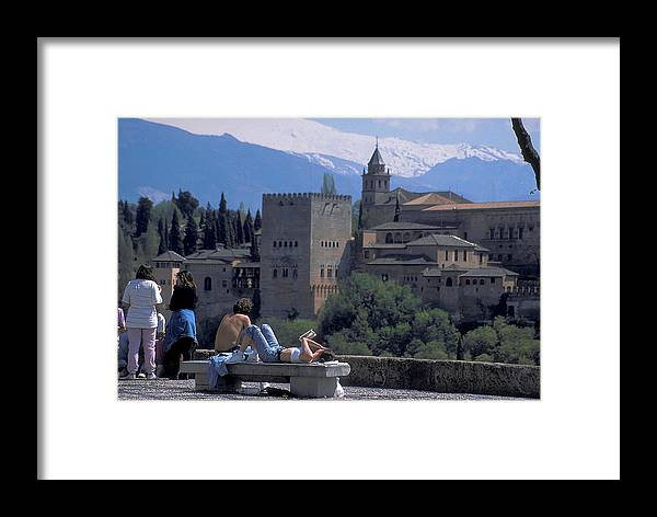 Students Framed Print featuring the photograph Alhambra At Grenada In Spain by Carl Purcell