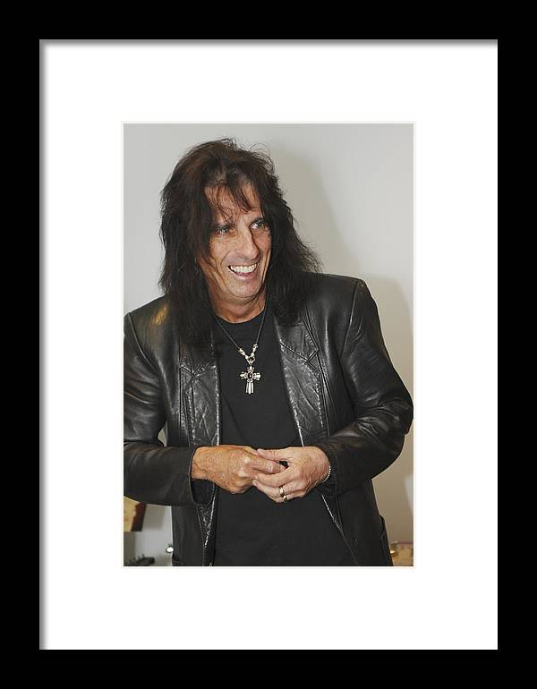 Alice Cooper Framed Print featuring the photograph Alice Cooper Happy by Jill Reger