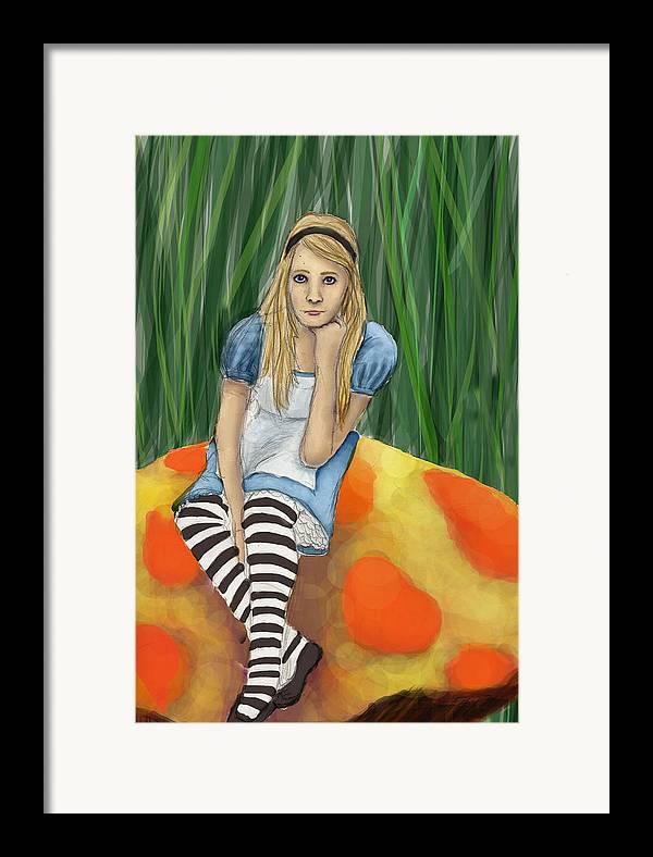 Framed Print featuring the digital art Alice In Wonderland by Aimee Helsper